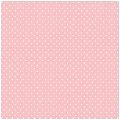 tissu patchwork rose à petits pois