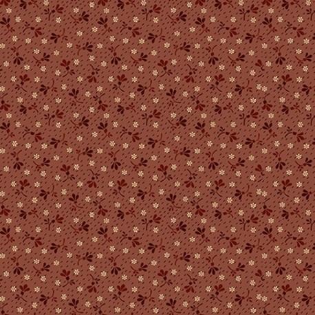tissu patchwork fleuri ocre orange Buttermilk blossoms,