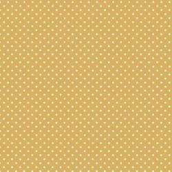 tissu patchwork ocre jaune à pois 1211