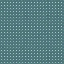 """""""Spot On"""" tissu patchwork bleu vert turquoise à pois 1207"""