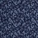 Tissu bleu, feuilles et toucan