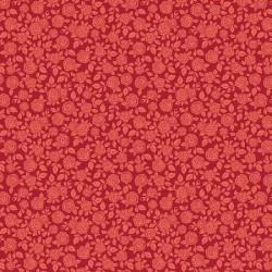 tissu patchwork à fleurs rouge 3038