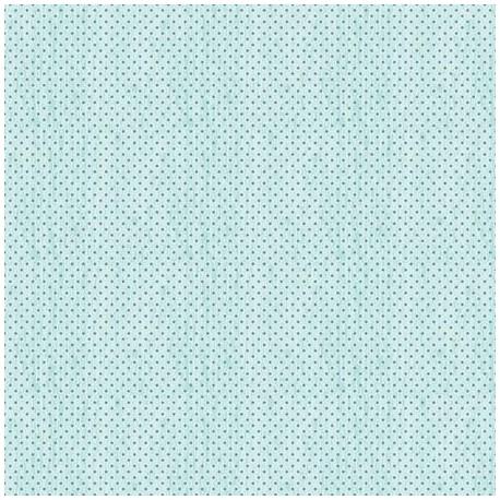 tissu patchwork à pois bleu foncés sur fond turquoise marbré 3034