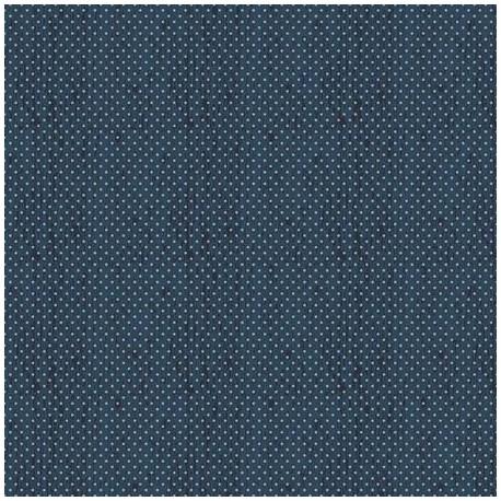 tissu patchwork à pois bleu foncés sur fond bleu foncé 3028