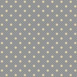 tissu patchwork bleu gris avec de petites fleurs