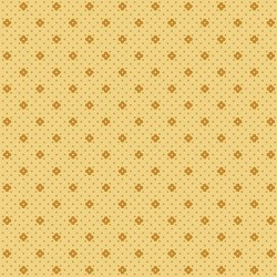 tissu patch petites fleurs orange