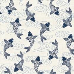 tissu patchwork impression de poissons koi