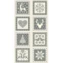 tissu patchwork hiver noël en panneau