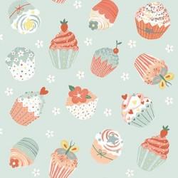 tissu patchwork, gourmandises cupcakes