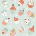 tissu patchwork, cupcakes