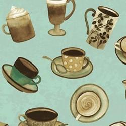 tissu patchwork, avec tasses à café collection Coffee Shop,