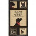 tissu patchwork en panneau avec des chiens, collection Wigglebutts, panneau d'étiquettes