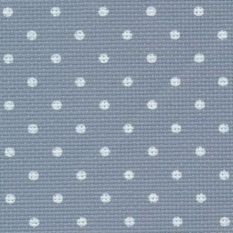 toile aida 8 coloris 5269, petits points bleu