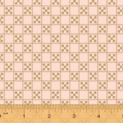 tissu patchwork a carreaux caramel Collection french armoire de l'Atelier Perdu 51555-2