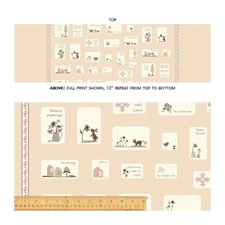 Collection de tissu patch french armoire de l'Atelier Perdu en panneau