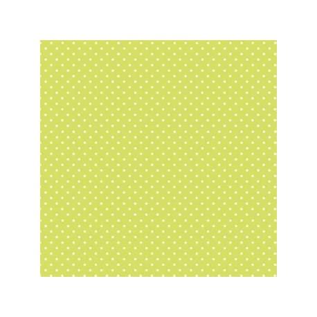 """""""Spot On"""" tissu patchwork vert à pois 592"""