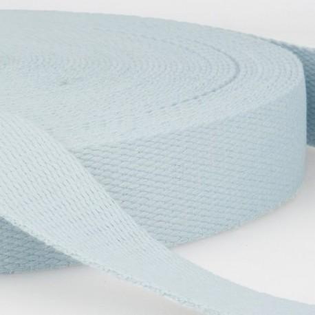 sangle coton bleu glacier