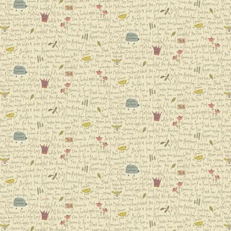 """tissu patchwork sur le thème du thé Collection """"Tealicious"""" Anni Downs"""