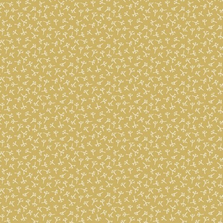 "tissu patchwork Collection ""Tealicious"" Anni Downs jaune vert anis avec des fleurs"