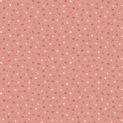 """tissu patchwork rose pêche avec des petits motifs Collection """"Tealicious"""" Anni Downs"""