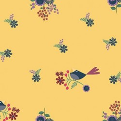 tissu patchwork fleuri collection Rosewood jaune