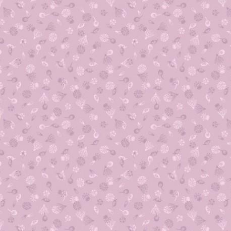 tissu patchwork fleuri violet collection botanic garden