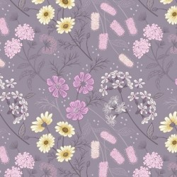 tissu patchwork fleuri violet collection botanic garden