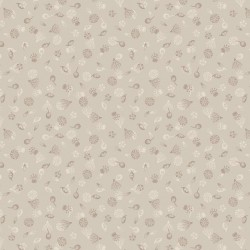 tissu patchwork écru avec des fleurs collection botanic garden 100