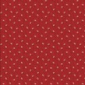 tissu patchwork rouge, petites fleurs 1251
