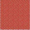 tissu patchwork rouge fleurs blanches 1230