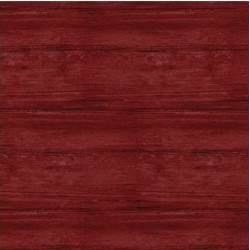 tissu patchwork, collection washed wood, effet bois, rouge foncé 8017