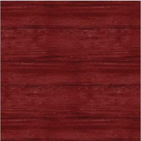 tissu patchwork, collection washed wood, effet bois, rouge foncé