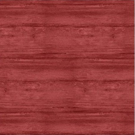 tissu patchwork rouge , collection washed wood, effet bois, rouge clair 8018