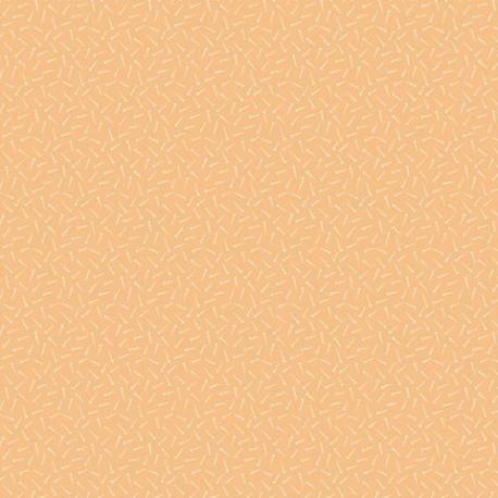 tissu patchwork orange abricot