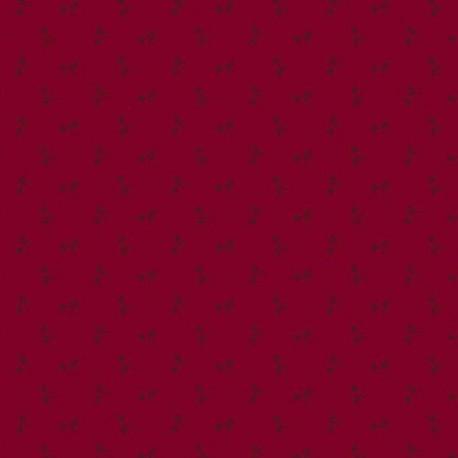 "tissu patchwork rouge collection ""Bijoux"" rouge bourgogne"