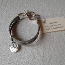 Bracelet Cuir: gris