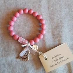 bracelet rose romantique