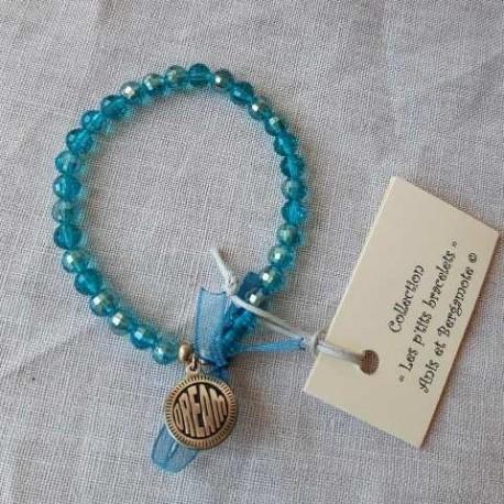 Les P'tits Bracelets coloris turquoise transparent