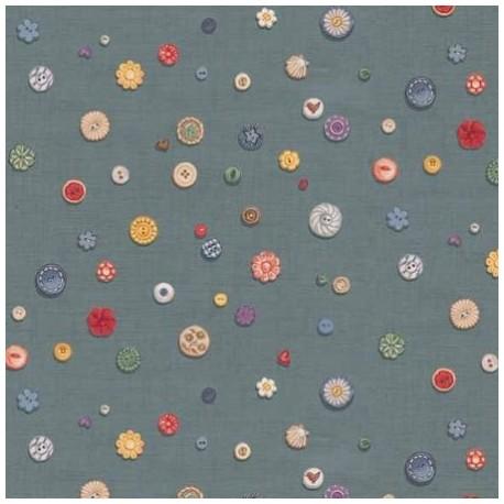 tissu patchwork imprimé boutons