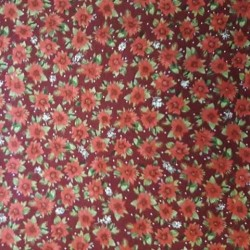 tissu patchwork fleuri collection holidays rouge