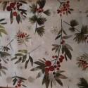 tissu patchwork fleuri collection holidays banches de houx