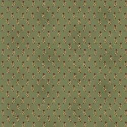 tissu patchwork vert avec petites branches et étoiles collection Liberty star par Kim Diehl