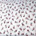 tissu patchwork blanc avec des fleurs rose