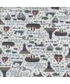 tissu patchwork imprimé bateaux, poissons fond blanc collection Ship To Shore Lynette Anderson