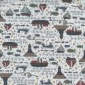 tissu patchwork imprimé marin fond blanc collection Ship To Shore Lynette Anderson