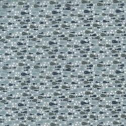 tissu patchwork bleu imprimé poissons collection Ship To Shore Lynette Anderson