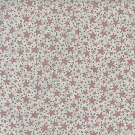 tissu patchwork imprimé étoiles de mer vieux rose collection Ship To Shore Lynette Anderson