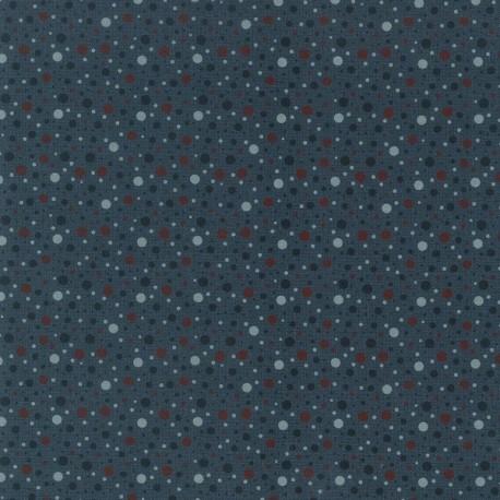 tissu patchwork bleu foncé à pois collection Ship To Shore Lynette Anderson