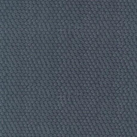 tissu patchwork bleu foncé imprimé vagues collection Ship To Shore Lynette Anderson