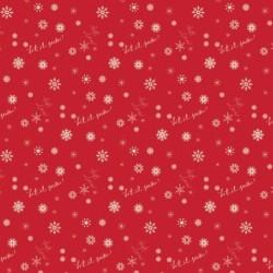 tissu patchwork de noël rouge avec des flocons